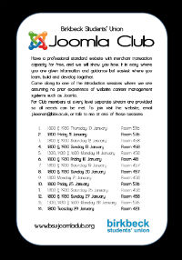 Joomla Club Bloomsbury January 2013