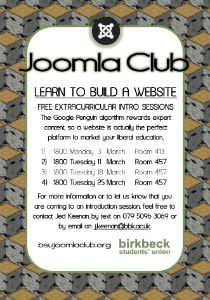 Joomla Club March 2014 Poster