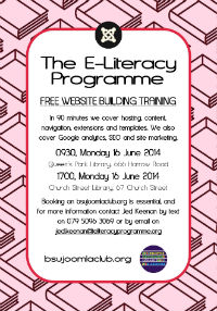 E-Literacy Programme Westminster Libraries June 2014