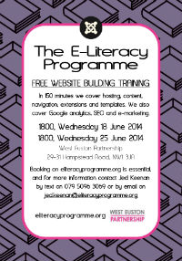E-Literacy Programme West Euston Partnership June 2014